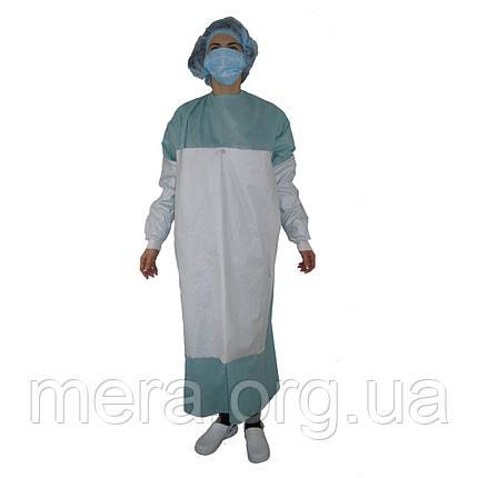 Халат хирургический SteriBata, стерильный, усиленный, рукав с манжетой, фото 2