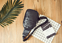 Мужская кожаная сумка. Модель 61364, фото 6