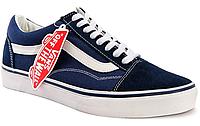 Кеды женские  Vans Old Skool (dark blue/white) - 39z