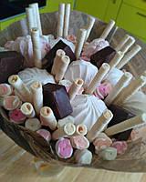Букеты из конфет, фруктов, овощей, композиции из конфет, композиции из фруктов Запорожье