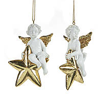 Елочная игрушка ангел сидящий на звезде Goodwill, фото 1