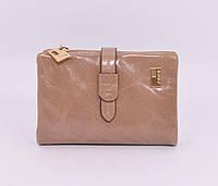 Небольшой кожаный кошелек женский JCCS 1029 бежевый, фото 1