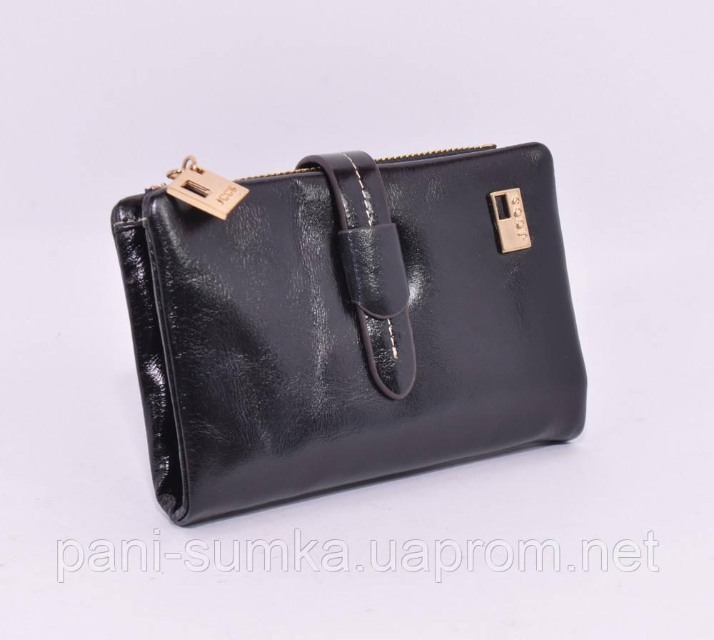 edcad180b681 Небольшой кожаный кошелек женский JCCS 1029 черный: продажа, цена в ...
