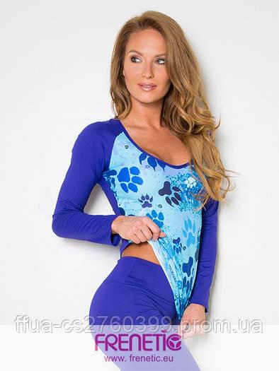 Реглан синий спортивный женский Frenetic