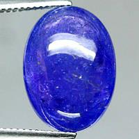 14,86 карат! 17 х 13 мм! Натуральный камень танзанит кабошон