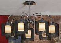 Люстра потолочная Lussole Rovella, 7 плафонов, хром подвес LSF-1903-07