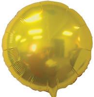 Шар фольгированный золотой, диаметр 45 см.
