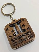 Брелок со знаком зодиака деревянный БЛИЗНЮКИ