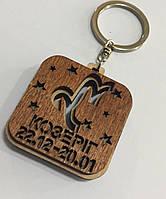 Брелок со знаком зодиака деревянный КОЗЕРІГ