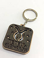 Брелок со знаком зодиака деревянный ТЕЛЕЦЬ (10шт)