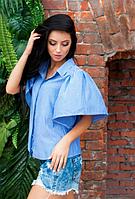 Летняя рубашка с оригинальной спинкой