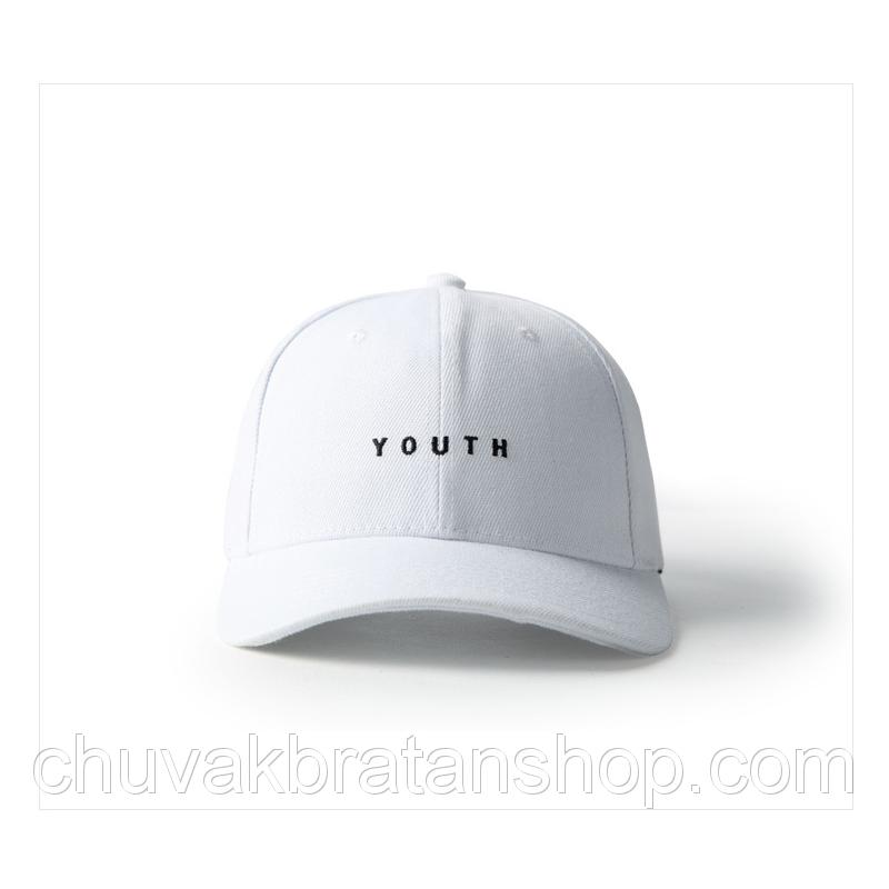 Белая кепка бейсболка Youth