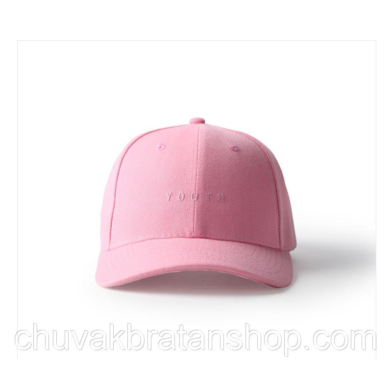 Розовая кепка бейсболка Youth
