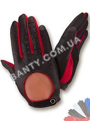 Перчатки мужские автомобильные кожа Италия