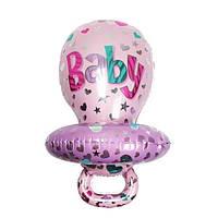 Фольгированный шар Соска розовая