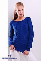 Стильный женский свитер. 15 Электрик