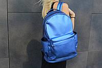 Школьный рюкзак синий с перламутром