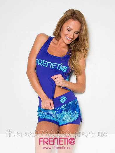 Шорты синие голубые спортивные женские Frenetic