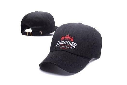 Черная кепка бейсболка Thrasher worldwide