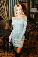 Красивое трикотажное платье (4 цвета)