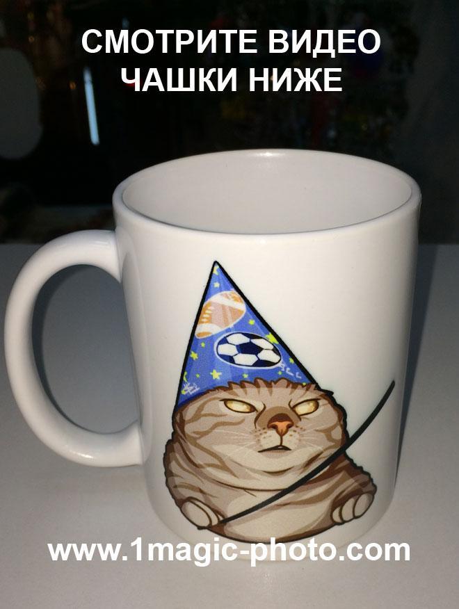 Чашка мем Кот Вжух!