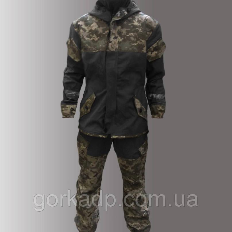 Костюм Горка 3 черная, украинский пиксель