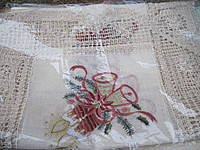 Новогодняя скатерть 85х85 Натуральная х/б ткань Венгрия