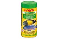 Sera Granugreen - корм для растительноядных цихлид в виде зеленых гранул, 20г