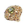 """Кольцо """"Нураг"""" с кристаллами Swarovski, покрытое золотом (r481p033), фото 2"""