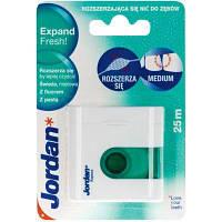 Зубная нить (флосс) Jordan Expand Fresh floss(25м) с фтором и з.пастой, 1 шт, Jordan