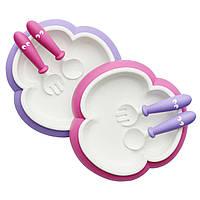 Набор тарелок, ложек и вилок BabyBjorn, розово-сиреневый