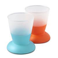 Набор из двух чашек детский (Baby Cup 2-pack) оранжевый и бирюзовый
