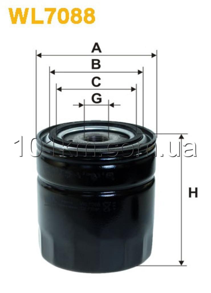 Фильтр масляный WIX WL7088 (OP 542)