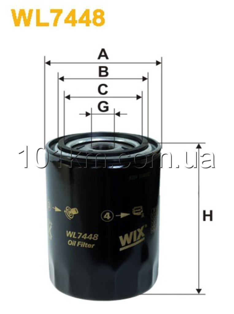 Фильтр масляный WIX WL7448 (OP 526/6)