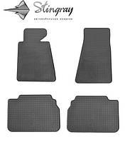 Резиновые коврики Stingray Стингрей БМВ 5 Е34 1987-1995 Комплект из 4-х ковриков Черный в салон. Доставка по всей Украине. Оплата при получении