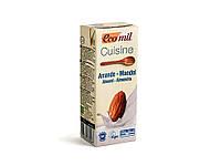 Органические растительные сливки для приготовления из миндаля, 200 мл, EcoMil