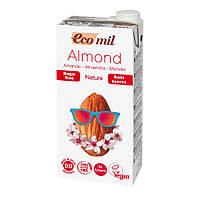 Органическое миндальное молоко без сахара, 1л, EcoMil