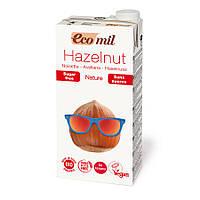 Органическое растительное молоко из фундука без сахара, 1л, EcoMil