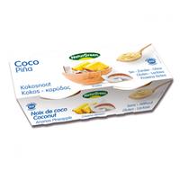 Органический растительный десерт из кокоса с ананасом, 125гр х 2 шт, NaturGreen
