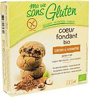 Органическое безглютеновое бисквитное печенье с начинкой какао-фундук, 200 г, Ma Vie Sans Gluten