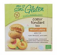 Органическое безглютеновое бисквитное печенье с начинкой персик - абри, 200 г, Ma Vie Sans Gluten