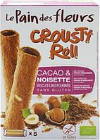 Хрустящее печенье с какао и фундуком, без глютена, 125 г, Le Pain des Fleurs
