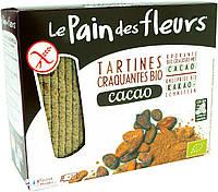 Хрустящие хлебцы с какао, без глютена, 150 г, Le Pain des Fleurs