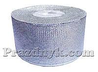 Лента серебро 4 см