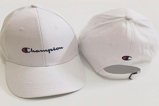 ✔️ Белая кепка бейсболка Champion