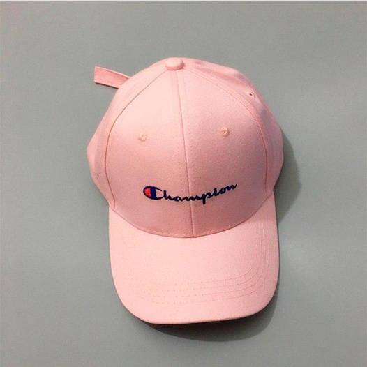 Розовая кепка бейсболка Champion
