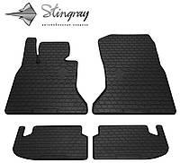 Резиновые коврики Stingray Стингрей BMW 5 (F10) 2014- Комплект из 4-х ковриков Черный в салон. Доставка по всей Украине. Оплата при получении