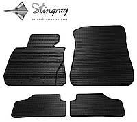 Резиновые коврики Stingray Стингрей БМВ Х1 Е84 2009- Комплект из 4-х ковриков Черный в салон. Доставка по всей Украине. Оплата при получении