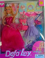 "Кукла типа ""Барби"" +наряды В коробке 8269+ Defa Lucy Китай"