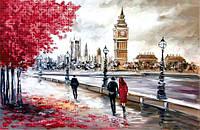 Схема для вышивания бисером Прогулка по Лондону БИС3-146 (А3)